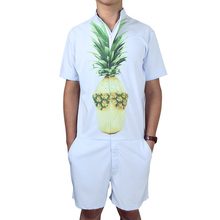 ca25d51edb53 Mens Romper Jumpsuit Hoiday Playsuit Overalls One Piece Slim Fit Brand  Clothing Men s Tracksuit Set Pineapple