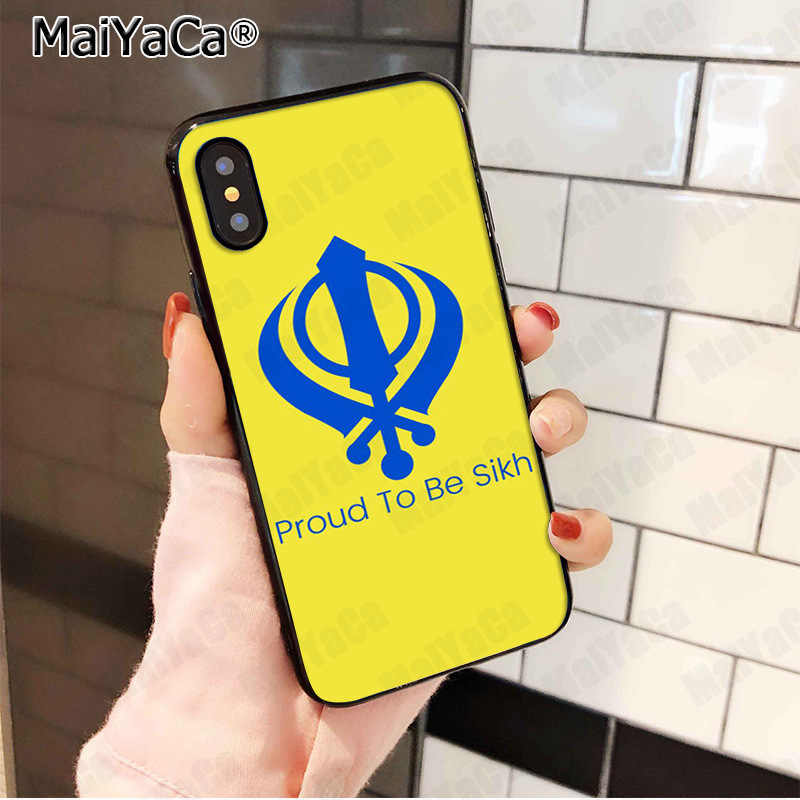 MaiYaCa Sikh Khanda Sikhism Funny Abstract Art Case Fashion Phone Cover for iphone 11 pro 8 7 66S Plus X 5S SE XS XR XS MAX