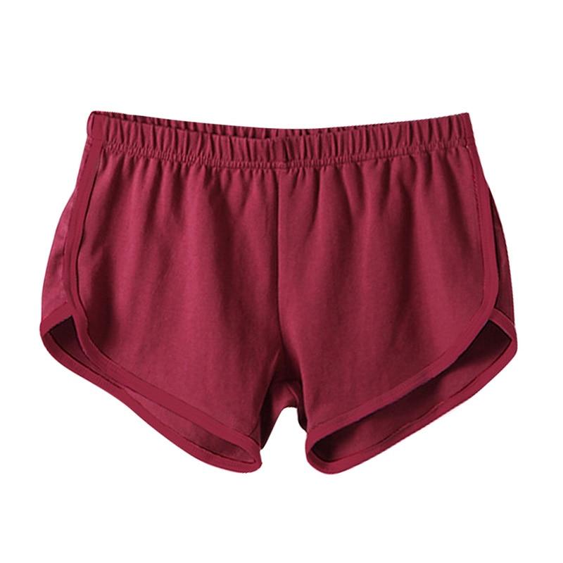 Fast Drying Drawstring Women Shorts Casual Anti Emptied Cotton Contrast Elastic Waist Correndo Short Esportes Shorts DD