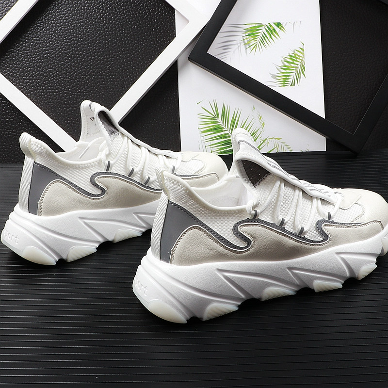 high quality men youth casual shoes thick Bottom mesh Breathable mixed color Platfrom Leisure Shoes For web celebrity 38-43 14