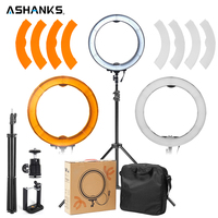12 55W 5500K LED Selfie Ring Light With Light Stand Photographic Lighting Dimmable Camera Photo Phone