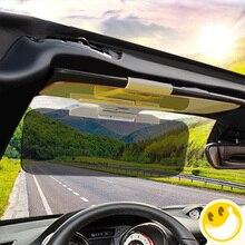 Pala de Sol do carro HD Carro Dazzling Goggle Anti-Reflexo Dia Noite visão Condução Espelho UV Fold Flip Down HD Visão Clara viseira