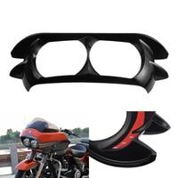 KaTur Glossy Black Dual Projector Headlamp Headlight Trim Bezel for 2015 2019 Harley Davidson Road Glide