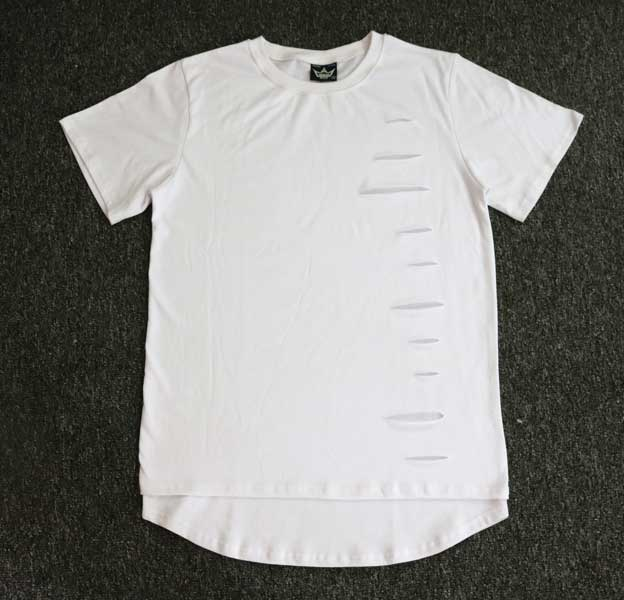 2978e9f17c73e5 Men Ripped Destroy T Shirt Gd Kanye West Summer Solid Hole Cotton Tops Hip  Hop Rap Tyga T Shirt-in T-Shirts from Men's Clothing on Aliexpress.com |  Alibaba ...