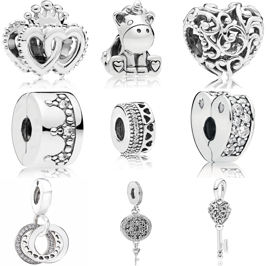 Solid 925 Sterling Silver 3-D Pacifier with Lobster Clasp Pendant Charm 14mm x 40mm