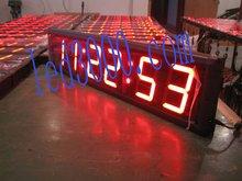 HH MM SS zegarek LED 12 H 24 H duży rozmiar zastosowań przemysłowych (HIT6-4R) tanie tanio DIGITAL Zegary ścienne NoEnName_Null Metal Luminova Cyfrowy