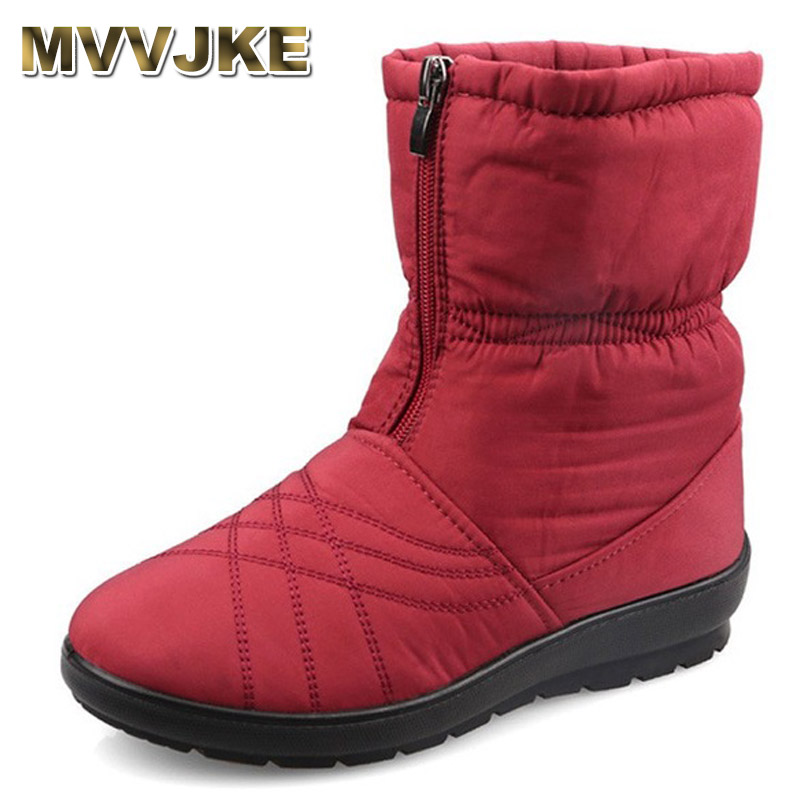 MVVJKE Waterproof Flexible Cube Woman Boots High Quality Cozy Warm Fur Inside Snow Boots Winter Shoes Woman MVVJKE Waterproof Flexible Cube Woman Boots High Quality Cozy Warm Fur Inside Snow Boots Winter Shoes Woman