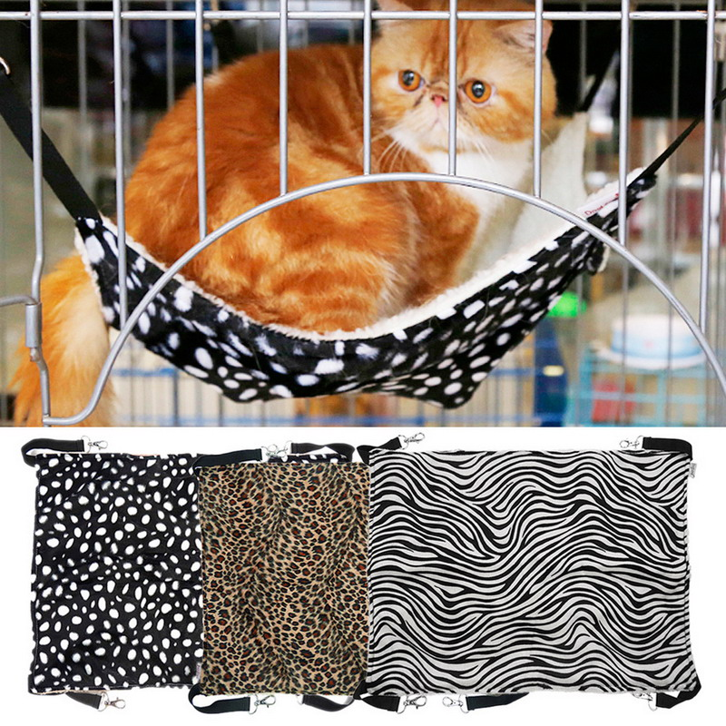 3 Colors S/L Polk Dot Polyester Rat Rabbit Chinchilla/Cat Cage Hammock Small Pet Dog Puppy Bed Cover Bag Blankets