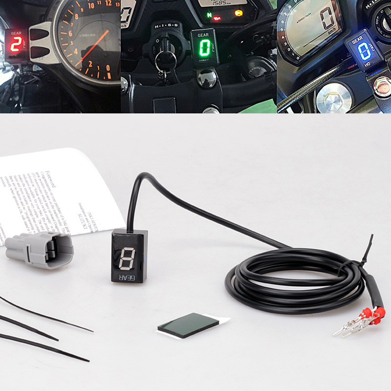 スズキ V ストロームため DL650 DL1000 SV650 SV1000 オートバイ LED エレクトロニクス 1 6 レベルギアインジケータモト速度デジタルメーター  グループ上の 自動車 &バイク からの 楽器 の中 1