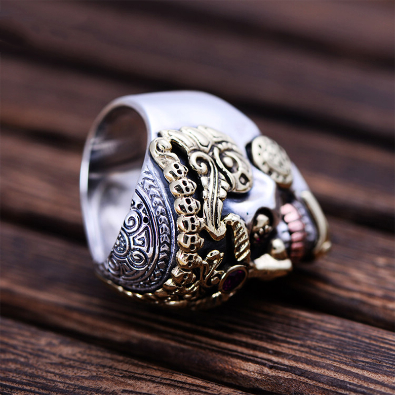 MetJakt-Punk-Rock-Domineering-Skull-Rings-Set-In-Red-Corundum-Solid-925-Sterling-Silver-Ring-for (2)