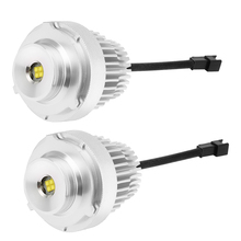 2 piezas LED Ángel ojos luz lámpara blanco 40 W para BMW E60 E61 E71 E70  LCI E90 E91 x5 X6 Z4 E92 X1 faros antiniebla faros 85a6de5b13ce