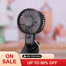 Mini USB Clip Fan Double-blade Design Personal Table Fan USB Powered 360 Degree Rotate Portable Fan for Baby Stroller Home цена