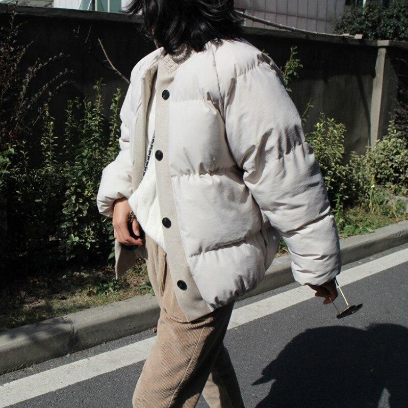 Occasionnel La white Manteau Taille Chaud Le Vers O black Mode Vêtements Automne Parkas Femelle Plus Femmes Beige 2018 cou Veste Hiver De Bas Des pgZCIqTx