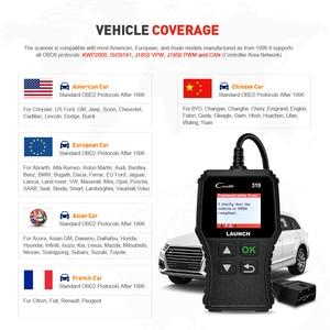 Image 4 - Launch X431 Creader 319 CR319 Auto Code Reader Full OBDII EOBD Automotive Diagnostic Tool OBD2 Scanner as Creader 6001 CR3001