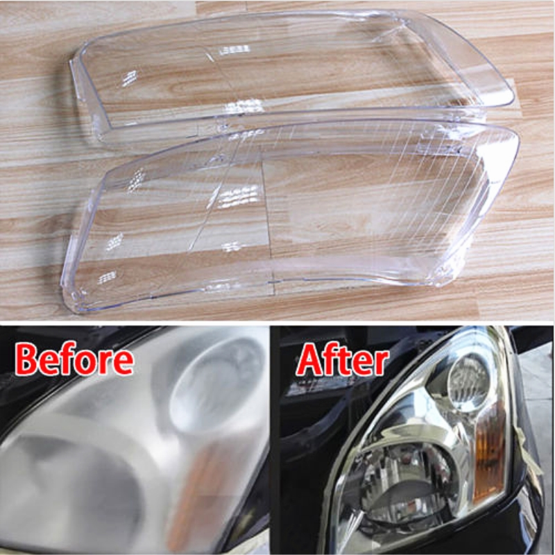 Poly Carbonate 1pair Headlight Lampshade Right&Left Lens Shell Cover Trim Accessories For Audi A6 A6L C6 Car Styling Car Covers brand new car dashboard cover for audi tt dash cover mat right hand driver