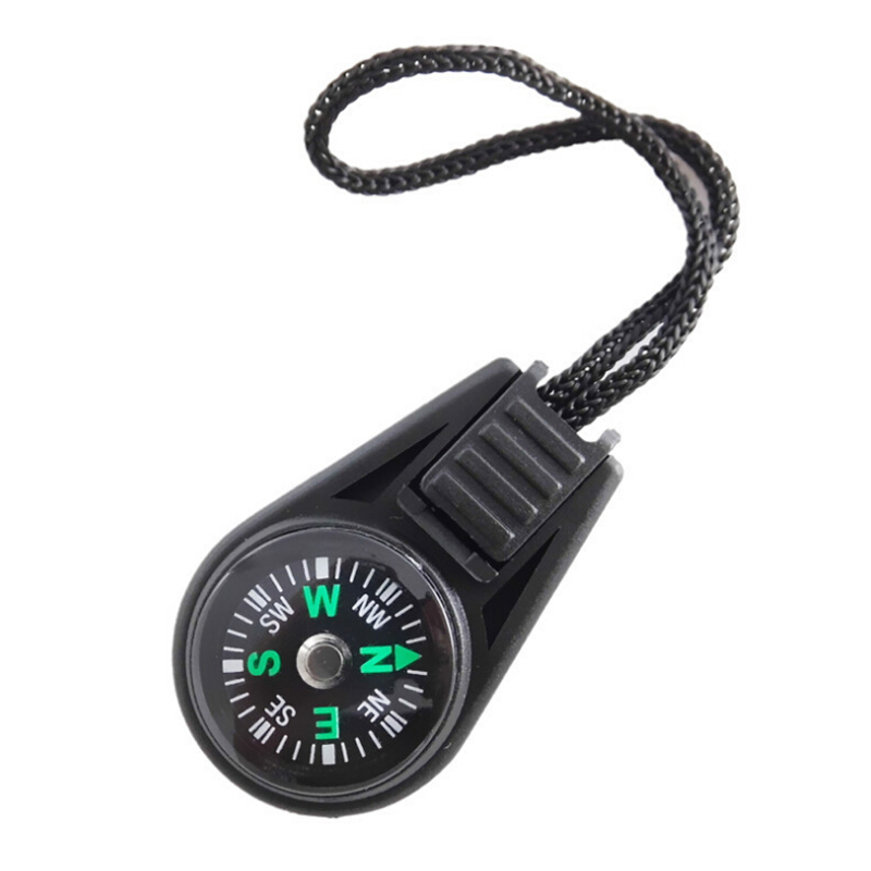 1 Pcs Keychain Compasses Multifunctional Metal Carabiner Mini Compass Gear Survival Keychain Outdoor Tools For Camping Hiking