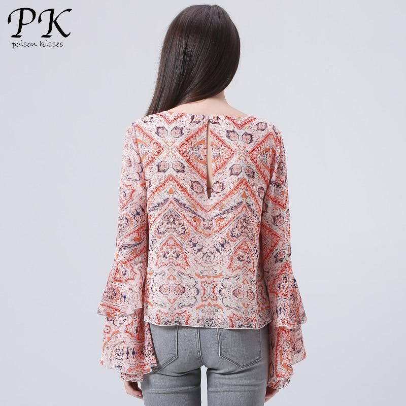 PK 2018 chiffon blouse sexy blouse shirt vrouwelijke vrouwen tops - Dameskleding - Foto 2