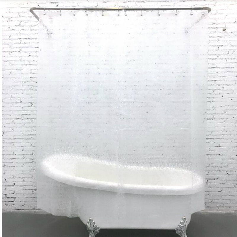 High quality EVA material transparent small stone shower <font><b>curtain</b></font> waterproof mildew shower <font><b>curtain</b></font> home decoration bathroom produ