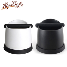 17.4x15.7x12cm Double Layers Coffee Tamper Knock Box Deep Bent Design Slag isn't Splash Manual Coffee Grinder Coffee Accessories