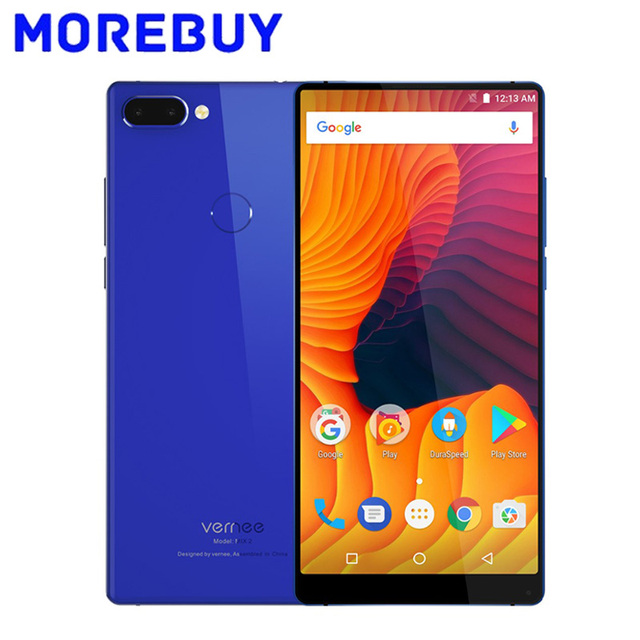 Vernee Mix 2 18:9 MTK6757 Octa Core Smartphone 4GB RAM 64GB ROM Fingerprint Touch ID Cellphone 13MP Dual Back Cameras 6.0 Inch