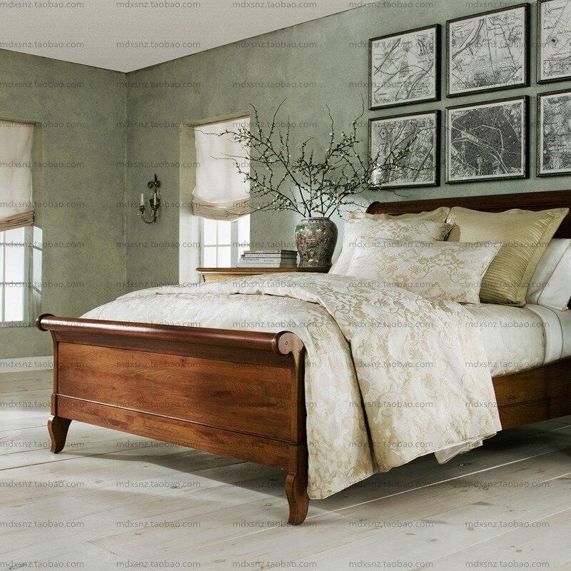 Mobiliario Markor muebles europeos madera americana cama trineo cama ...