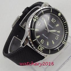 Corgeut automatyczny zegarek dla nurka Super Luminous MIYOTA metalowa tkanina mechaniczna zegarki czarna tarcza Top marka najlepsza tania sprzedaż