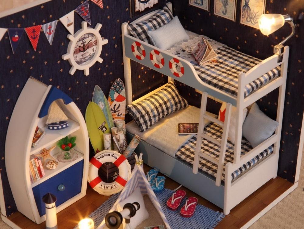 Diy poppenhuis met meubels handgemaakte model building kits d