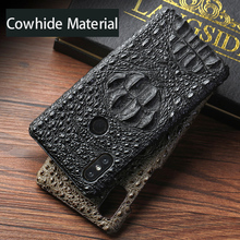 Original cowhide Phone Case For Xiaomi Mi 9 Mix 2S 6 8 8SE Pocophone F1 A1 A2 Max 3 Crocodile Redmi Note 7 5 Pro 4X Plus