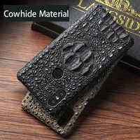 Original cowhide Phone Case For Xiaomi Mi 9 Mix 2S 6 8 8SE Pocophone F1 A1 A2 Max 3 Crocodile For Redmi Note 7 5 Pro 4X Plus