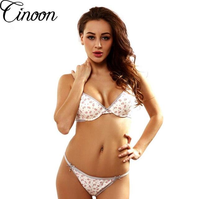 cinoon france marque floral coton sous v tements sexy lingerie jeune fille soutien gorge sets. Black Bedroom Furniture Sets. Home Design Ideas