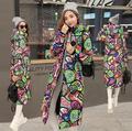 Las Mujeres de maternidad Escudo Slim Fit Cuello Alto Señora Chaqueta Con Capucha de Impresión Regular Longitud de Espesor Invierno Cálido Outfit Capa Femenina