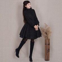Original Fashion Lantern Long Sleeve Wool Overcoat Elegant Slim Female Outwear S-XXXL Plus Size Women's Double Breasted Coat