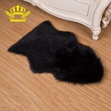 Мягкий искусственный коврик из овечьей для гостиной спальни Волосатое покрытие ковра Диван стула Пушистая моющаяся