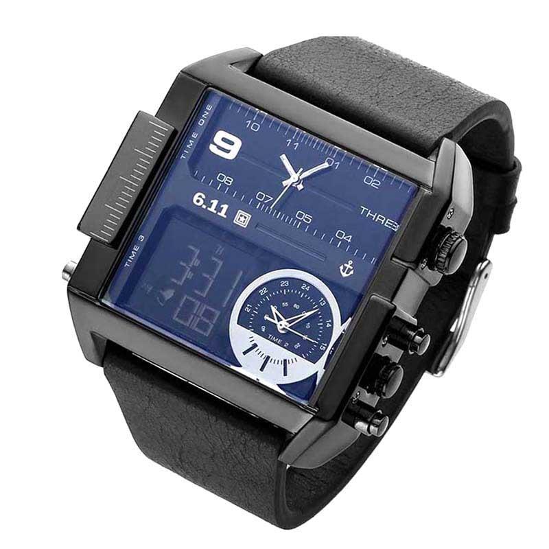 6.11 Men's Wrist Watch Luxury Brand Quartz Hour Analog LED Sports Watches Army clock Military Relogio Masculino