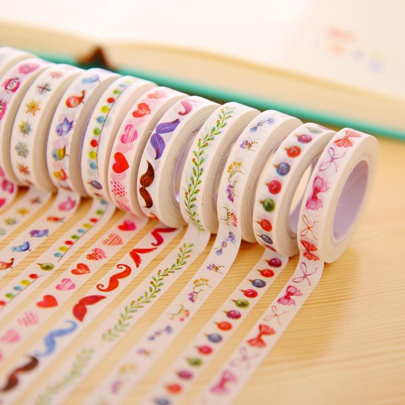 1PCS Creative Stationery Segmentation Line Japanese Washi Paper Tape Border Decorative Fresh Narrow Edition Sticker Masking Tape