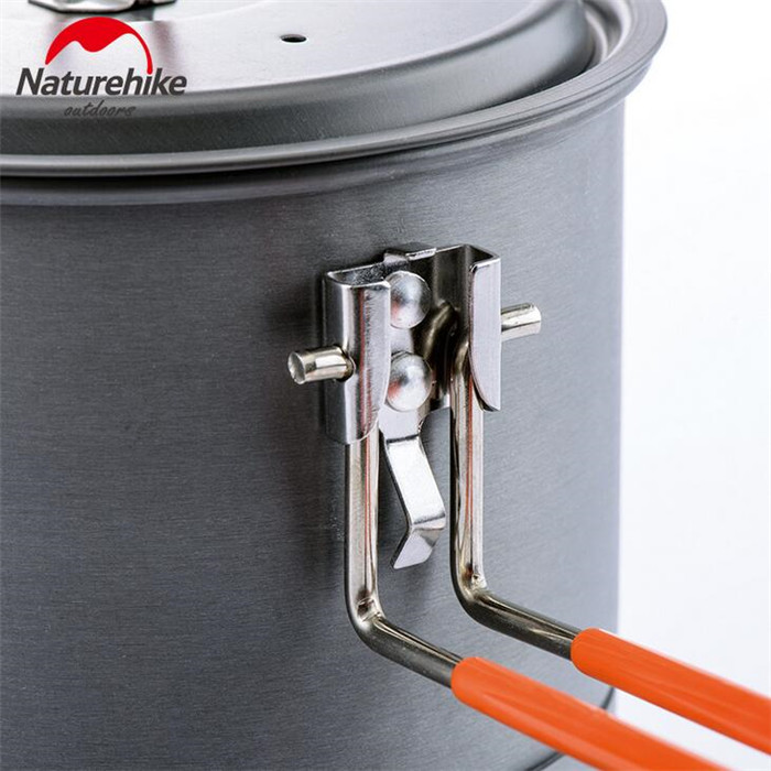 Naturehike 1 5L Lightweight Outdoor Aluminium Alloy Camping Exchanger Pot Heating Fast Folding Kettle Picnic Cookware in Outdoor Tablewares from Sports Entertainment