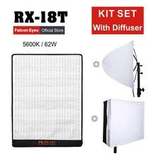 ファルコンアイズ LED Fotografia ライト 62 ワット 5600 18K 防水ポータブル柔軟な照明カメラビデオ写真ディフューザー RX 18T