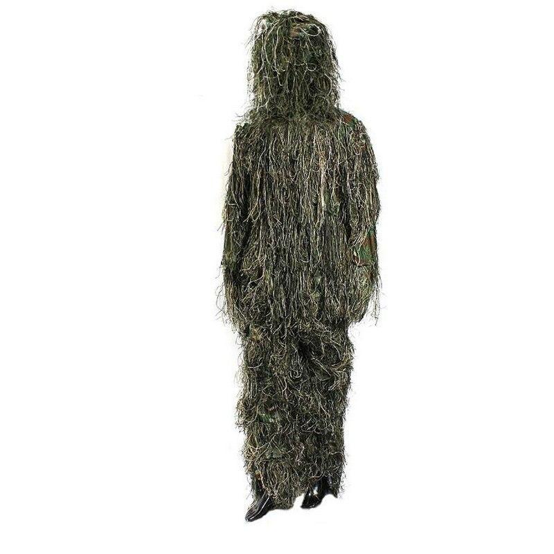 Camouflage Ghillie Costume 3D Woodland Militaire Sniper Tir Uniforme En Plein Air Chasse Airsoft Observation Des Oiseaux Costume Camouflage Vêtements