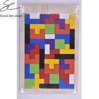 New Wooden Toys For Children Tangram Brain Teaser Puzzles Wood Tetris Toy Kids Game Jigsaw Board