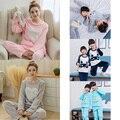 Novo Pijama de Flanela Crianças Nighties Menina Menino Homewear Das Mulheres do Velo Coral Salão Flanela Dos Desenhos Animados Pijamas Crianças Sleepwears 292