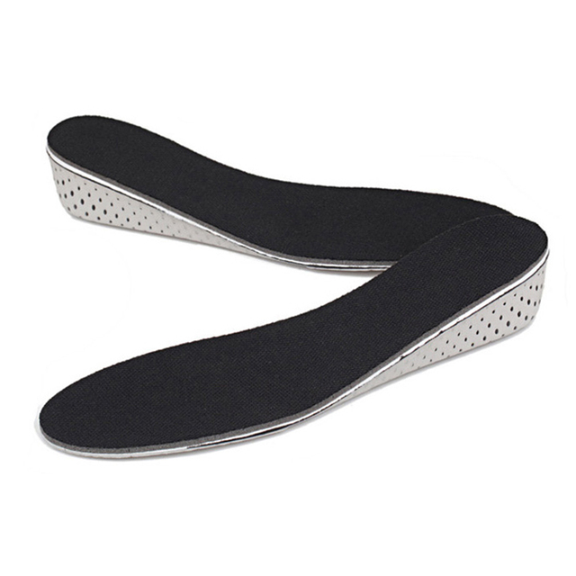 SOCOMFY Men/Women Height Increase Insole Comfortable Eva 4.0CM Height Increase Elevator Heel lifts Shoe Insole Inserts Pad