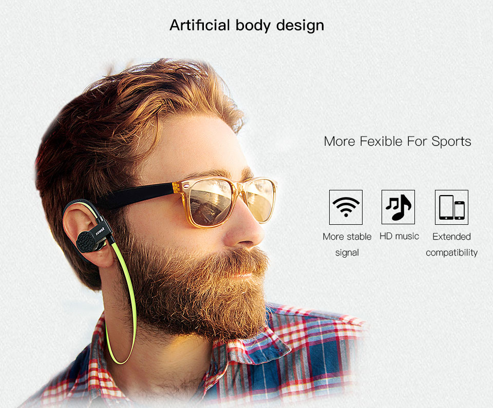 Sowak Q7 wireless earphone headphones bluetooth 4.1 HIFI airpods gaming headsets stereo earplus with Mic