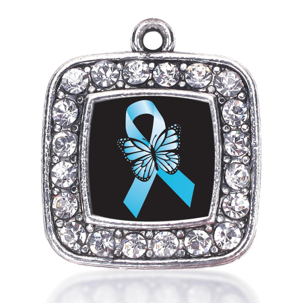 ADDICTION RECOVERY SQUARE CHARM ANTIQUE SILVER PLATED CRYSTAL JEWELRY