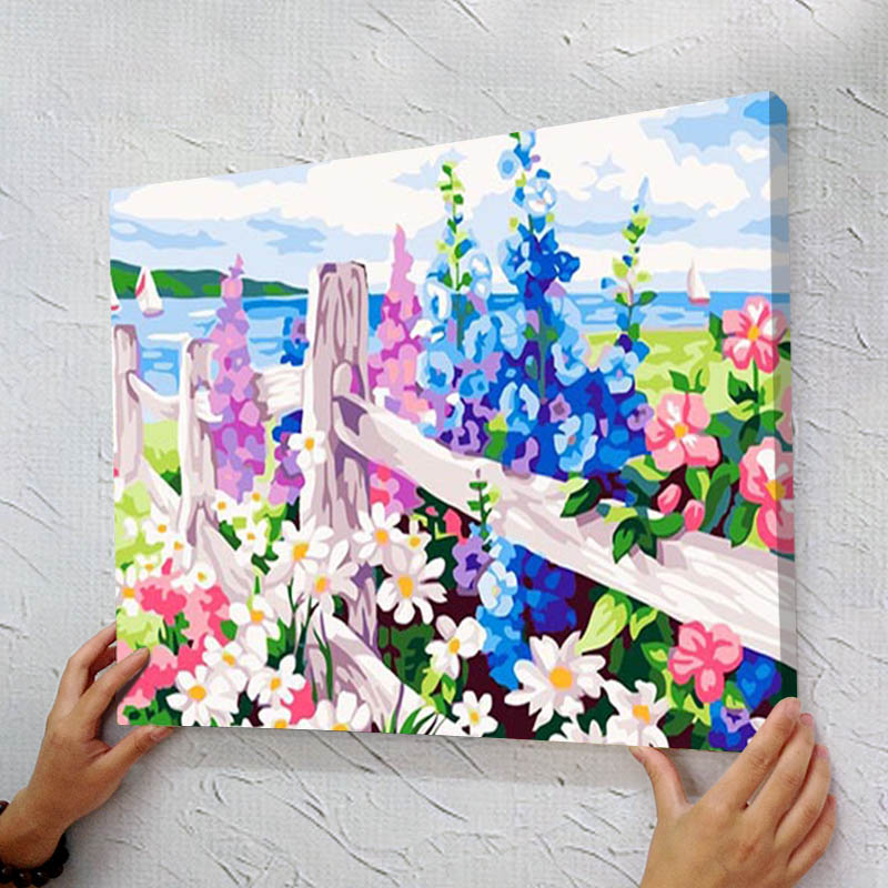 diy canvas painting aliexpress buy diy digital painting painted 13193