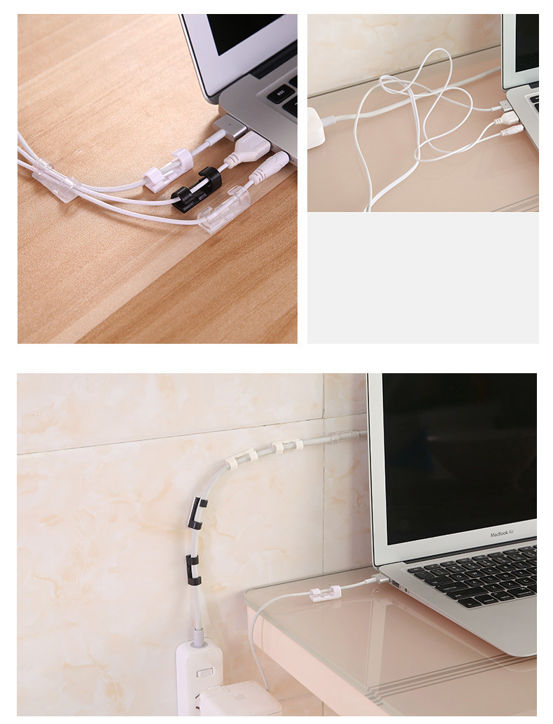 Wire Cable Clips Organizer Desktop Workstation Clips Cord Management Holder USB Charging Data Line Cable Winder Wire Cable Clips Organizer Desktop & Workstation Clips Cord Management Holder USB Charging Data Line Cable Winder
