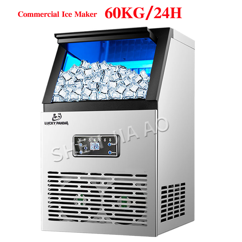 60kg/24H Commercial Ice Makers SK-60FF Automatic Ice Cube Making Machine For Bar,Coffee Shop,Milk Tea Room 110v/220v