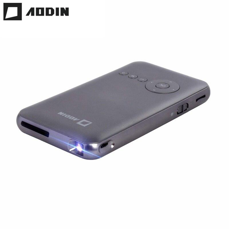AODIN 1G + 16G светодиодный умный мини проектор портативный домашний кинотеатр HD Pico DLP проектор HDMI поддержка 1080P Android OS карманный проектор