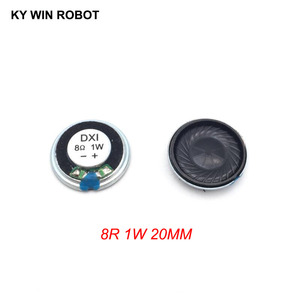 Image 2 - 5 adet/grup Yeni Ultra ince Mini hoparlör 8 ohm 1 watt 1 W 8R hoparlör Çapı 20 MM 2 CM kalınlığı 4 MM