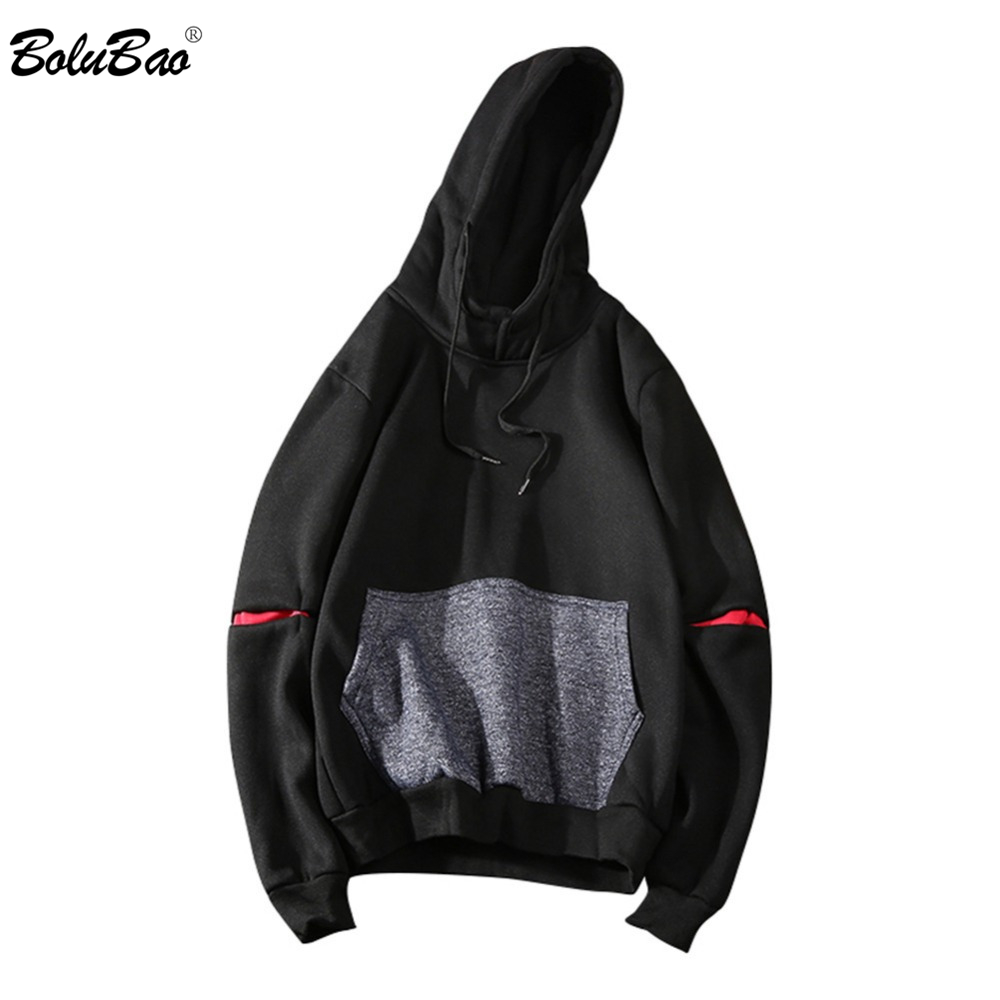 BOLUBAO Men Sweatshirt Hoodies Spring Autumn Men Hip Hop Pullover Sweatshirts Slim Fit Street Clothing