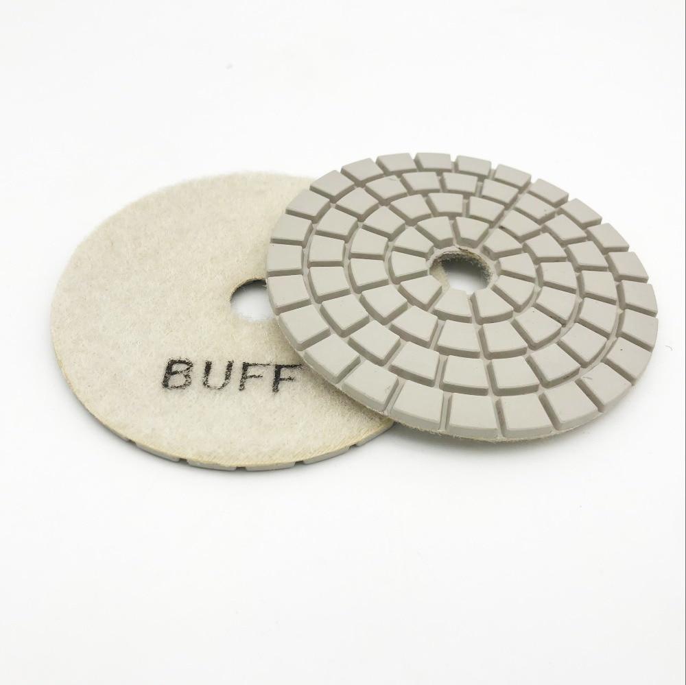 4 inch 100mm white buff black buff diamond resin polishing pad for stone in Polishing Pads from Tools